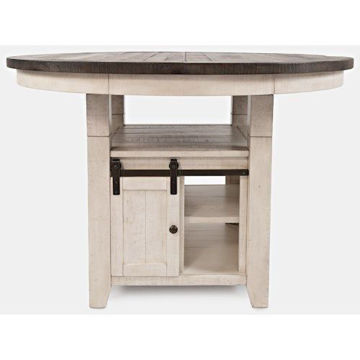 Picture of MADISON COUNTY ROUND COUNTER HEIGHT TABLE