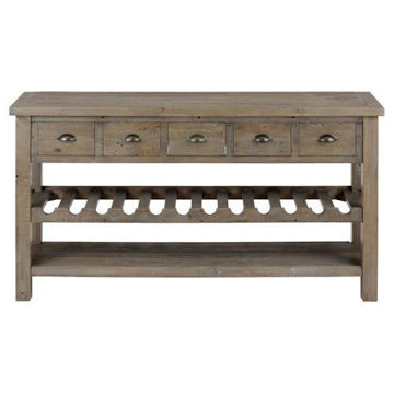 "Picture of SLATER MILL 60"" WINE RACK/SERVER"