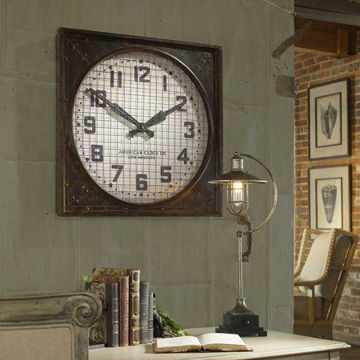 Picture of WAREHOUSE CLOCK W/GRILL