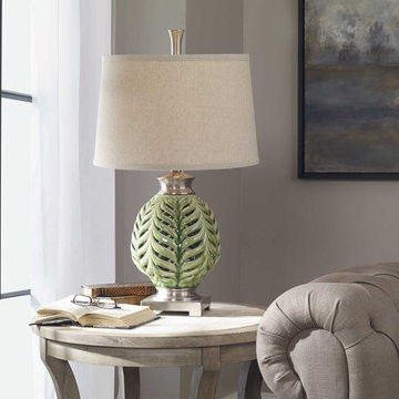 """Picture of 27"""" FLOWING FERN LAMP"""