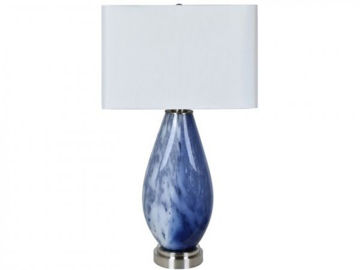 "Picture of 32.5"" GLASS TABLE LAMP"