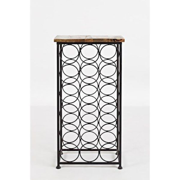 Picture of GLOBAL ARCHIVE WINE RACK ACCENT TABLE