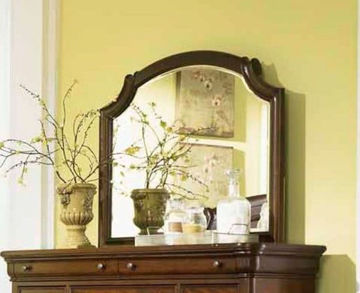 Picture of EVOLUTION SCROLL TOP BUREAU MIRROR