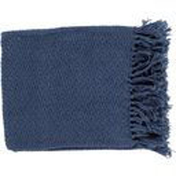 "Picture of TRESSA BLUE THROW 50""X60"""