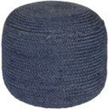 Picture of DARK BLUE POUF
