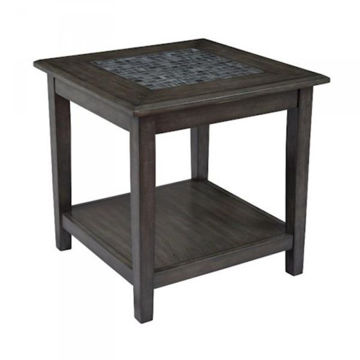 Picture of GREY MOSAIC END TABLE W/SHELF