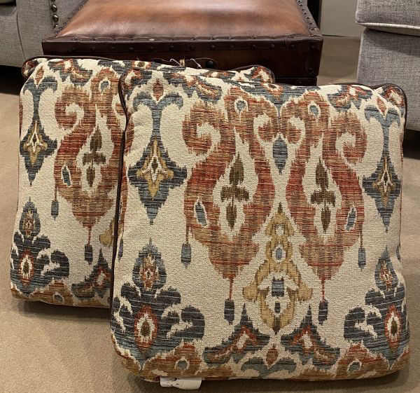 Picture of 19X19 PILLOW W/LEATHER CONT WELT/PRICE PER PAIR