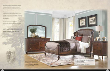 Picture of ANCESTRY QUEEN SIZE WOOD BED RAILS