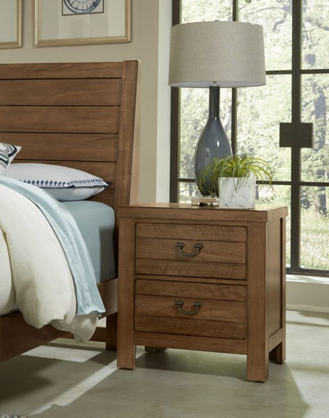 Picture of URBAN CROSSING ICED TEA 2 DRAWER NIGHTSTAND W/USB