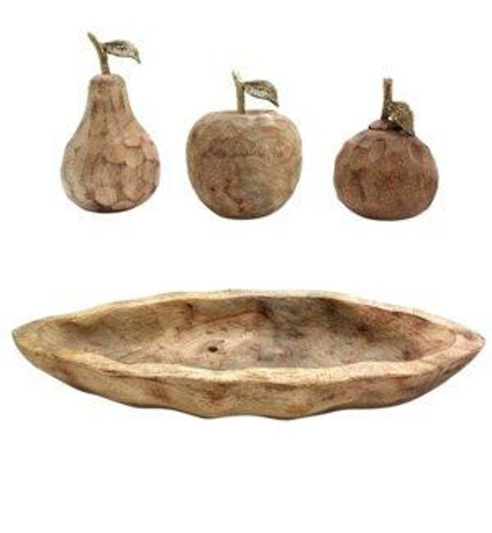 Picture of ASSORTED FRUITS IN WOOD BOWL