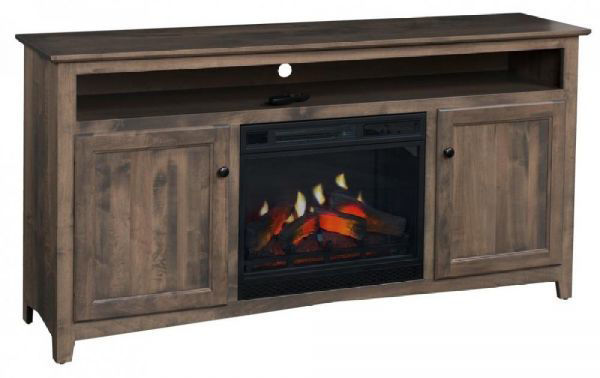"""Picture of 65"""" LINWOOD TV CONSOLE W/FIRE"""