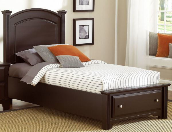 Picture of COMPLETE TWIN FOOTBOARD STORAGE BED