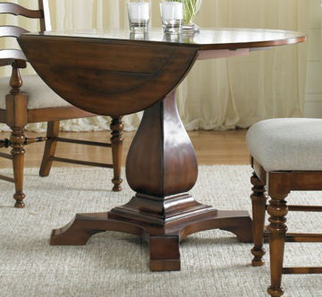 Picture of WAVERLY PLACE ROUND DROP LEAF PEDESTAL TABLE