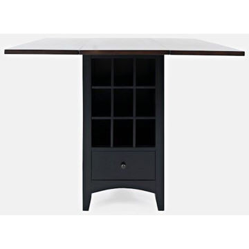 Picture of ASBURY PARK  COUNTER HEIGHT DROP LEAF STORAGE TABLE
