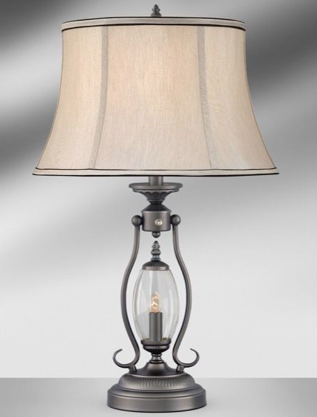 Picture of GUNMETAL W/GLASS TABLE LAMP