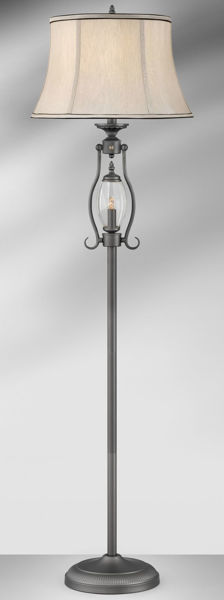 Picture of GUNMETAL W/GLASS FLOOR LAMP