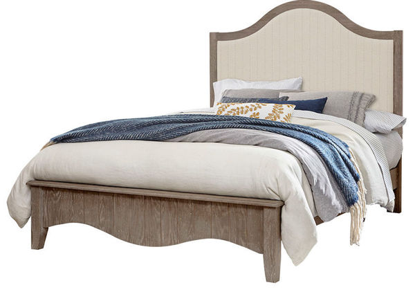 Picture of CASUAL RETREAT COMPLETE QUEEN UPHOLSTERED BED