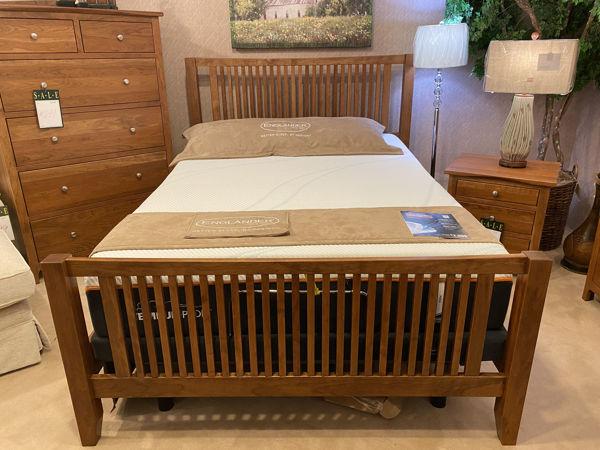 Picture of ATWOOD COMPLETE SPINDLE QUEEN BED W/HIGH FOOTBOARD