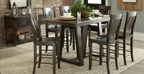 Picture of CADIZ PEDESTAL COUNTER HEIGHT TABLE