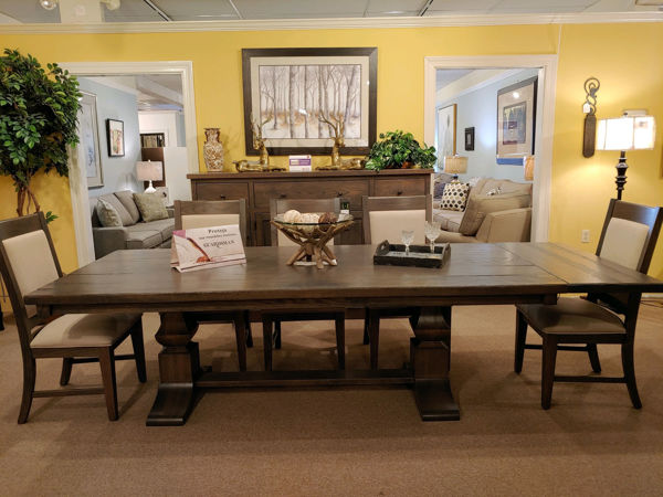 Picture of ELEANOR PEDESTAL PLANK TABLE