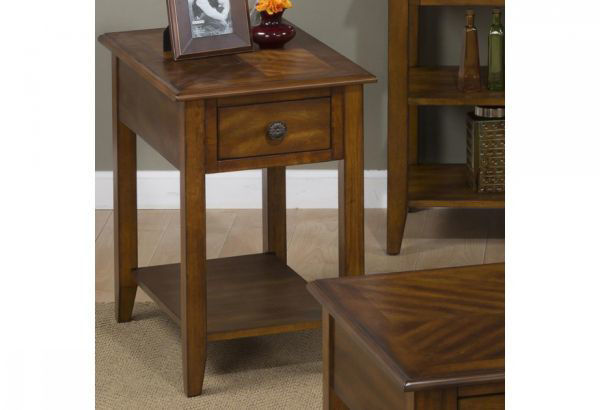 Picture of MEDIUM BROWN CHAIRSIDE TABLE