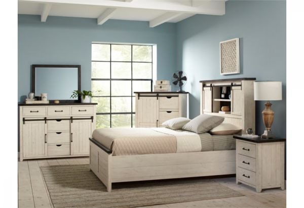 Picture of MADISON COUNTY QUEEN SIZE BARN DOOR COMPLETE BED