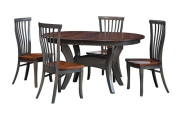 """Picture of ES37 OVAL TRESTLE TABLE  42""""X60"""" W/2-11"""" LEAVES"""